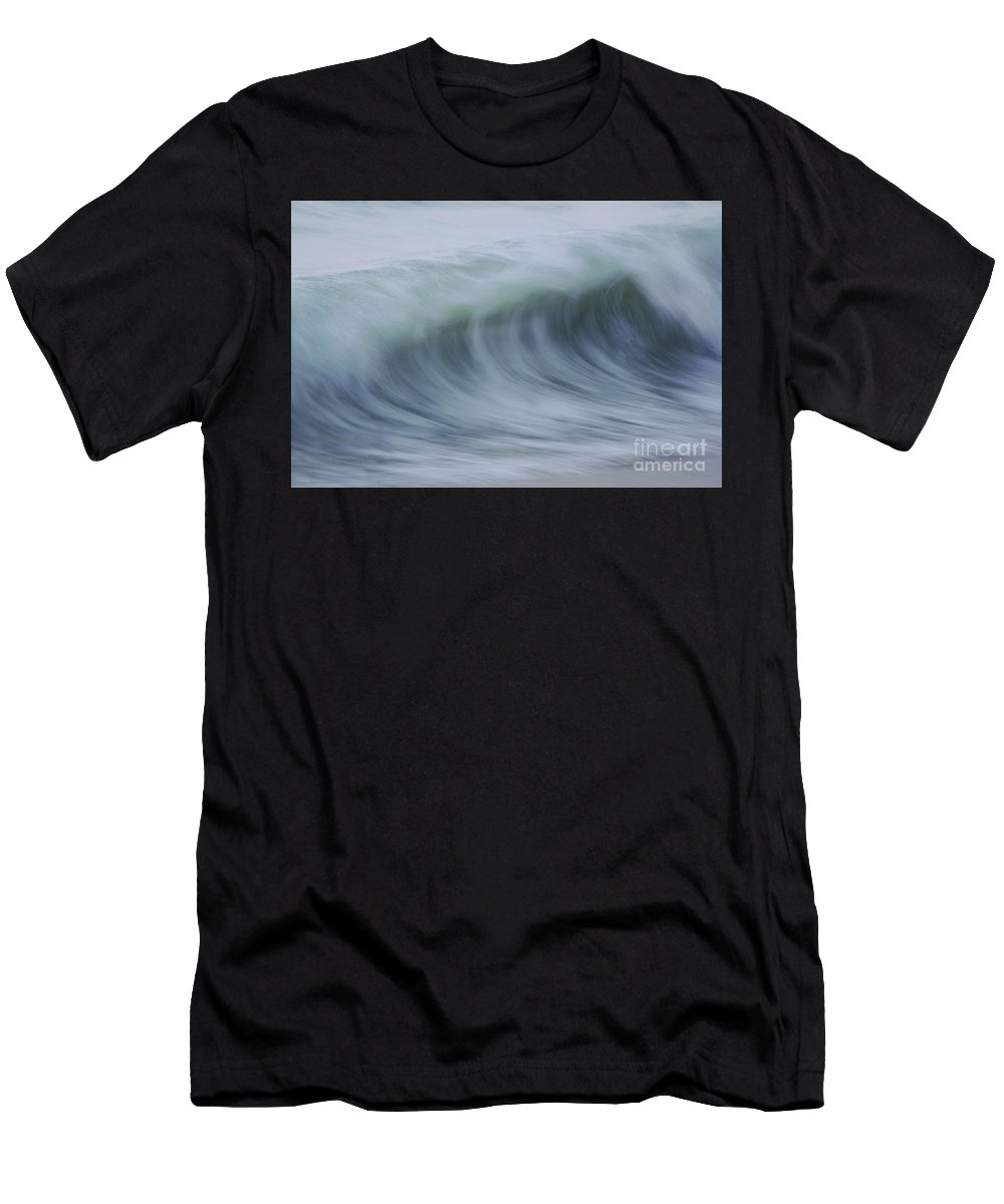 Waves Men's T-Shirt (Athletic Fit) featuring the photograph The Softness Of Being A Wave by Jeanne McGee