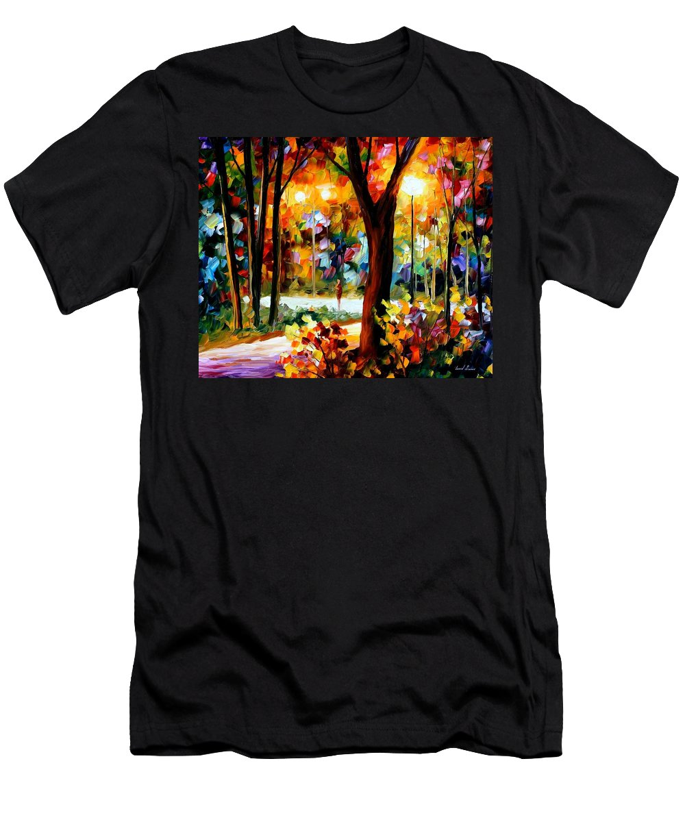 Afremov Men's T-Shirt (Athletic Fit) featuring the painting The Soul Of Night by Leonid Afremov