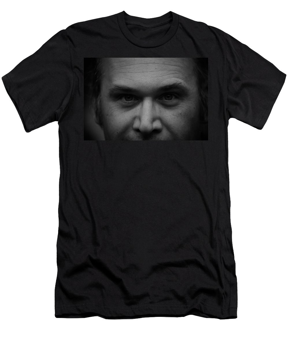 Black And White Men's T-Shirt (Athletic Fit) featuring the photograph The Stare by Kristen Beck