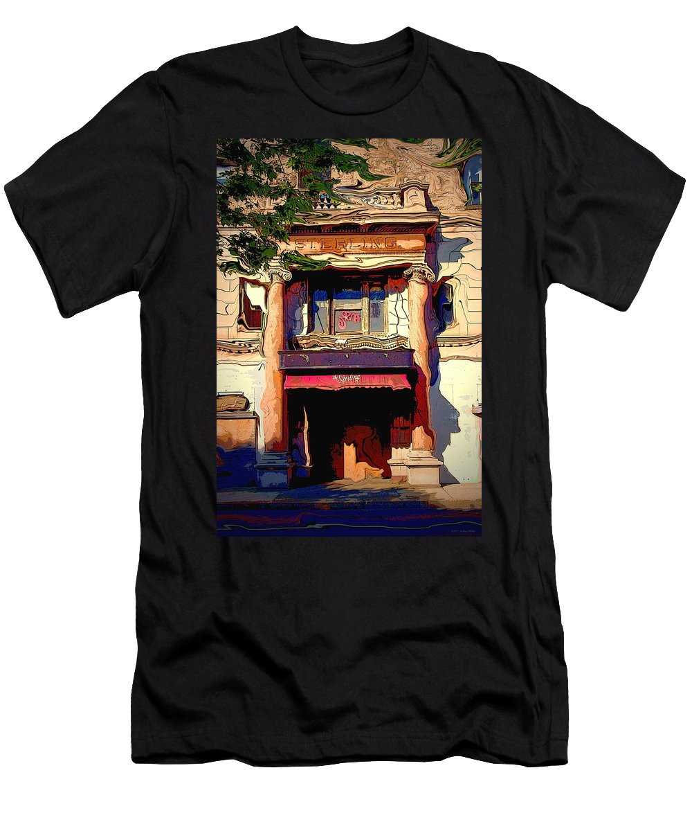 Impressionism Men's T-Shirt (Athletic Fit) featuring the photograph The Sterling Wilkes Barre by Arthur Miller