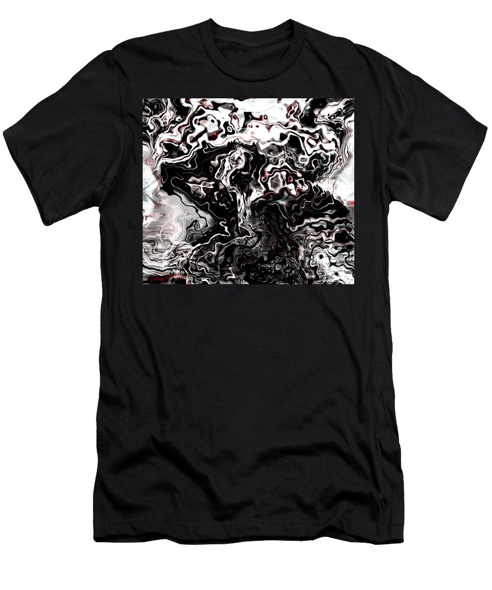 Storm Wind Clouds Nature Wind Men's T-Shirt (Athletic Fit) featuring the digital art The Storm by Veronica Jackson