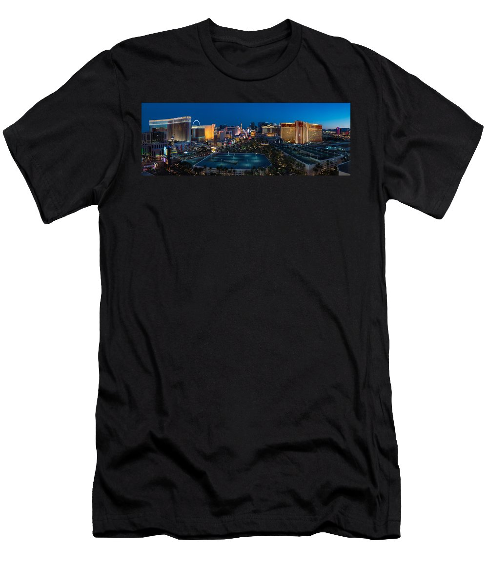 The Men's T-Shirt (Athletic Fit) featuring the photograph The Strip Las Vegas by Steve Gadomski