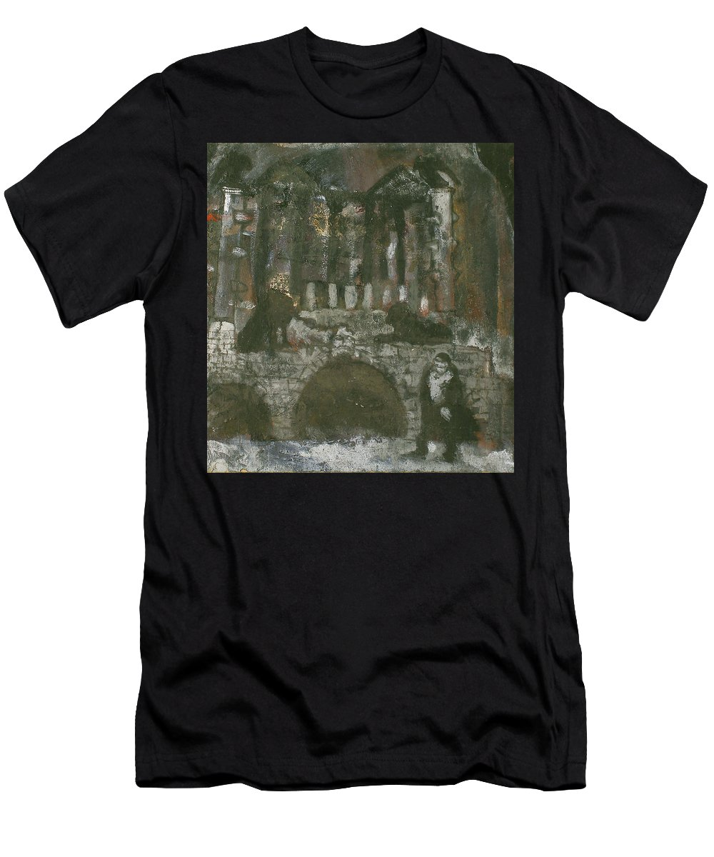 Performance Men's T-Shirt (Athletic Fit) featuring the painting Tarelkin's Death by Robert Nizamov
