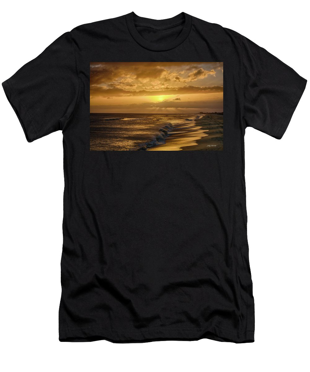 Sunset Men's T-Shirt (Athletic Fit) featuring the photograph The Sun Will Return by Jody Merritt