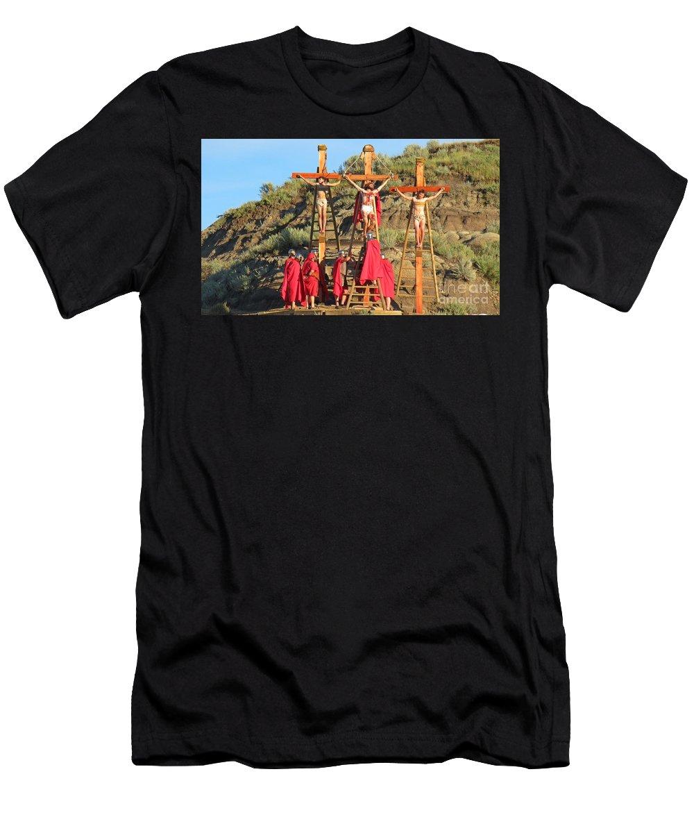 The Supreme Sacrifice Men's T-Shirt (Athletic Fit) featuring the painting The Supreme Sacrifice by John Malone
