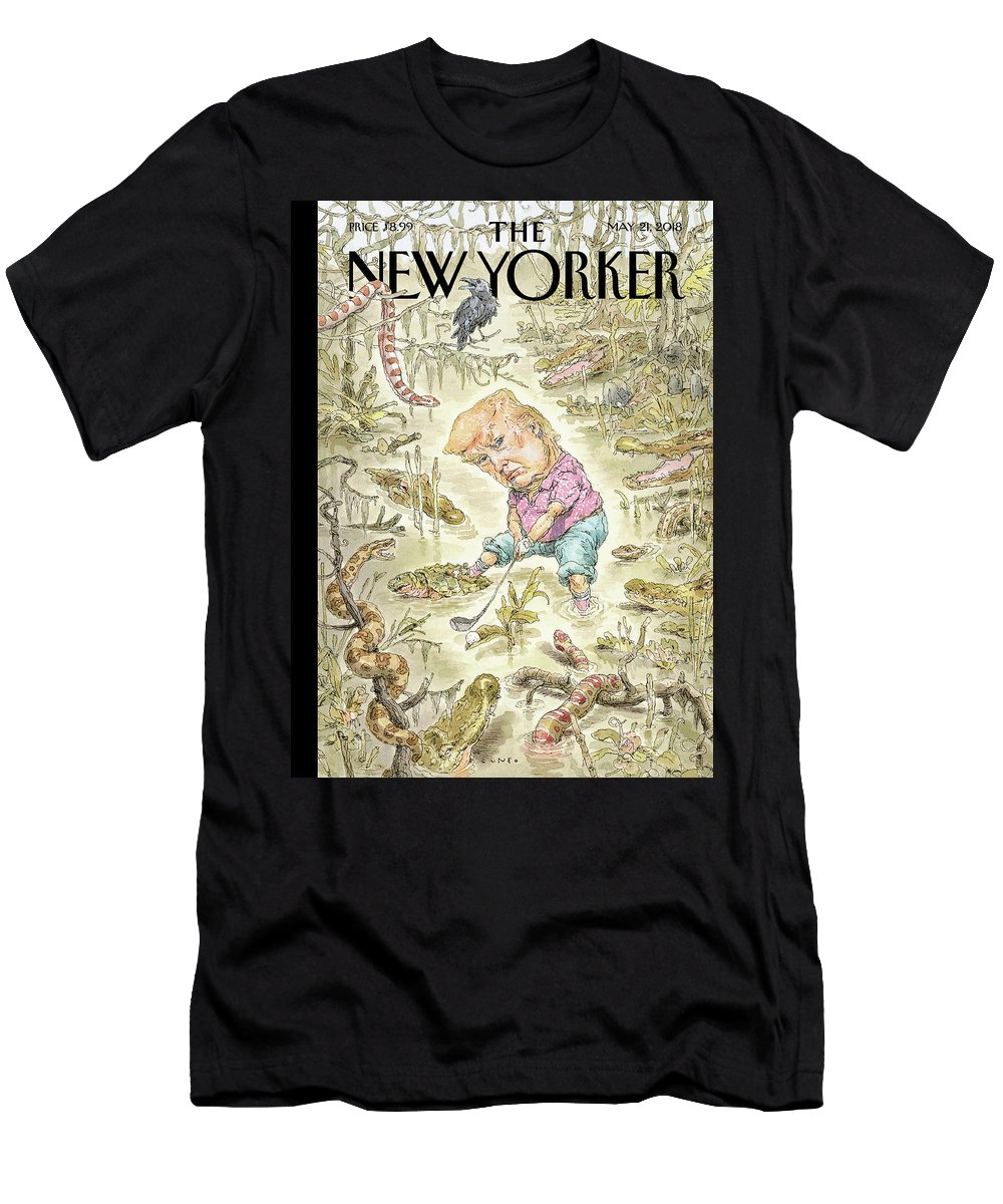 The Swamp T-Shirt featuring the painting The Swamp by John Cuneo