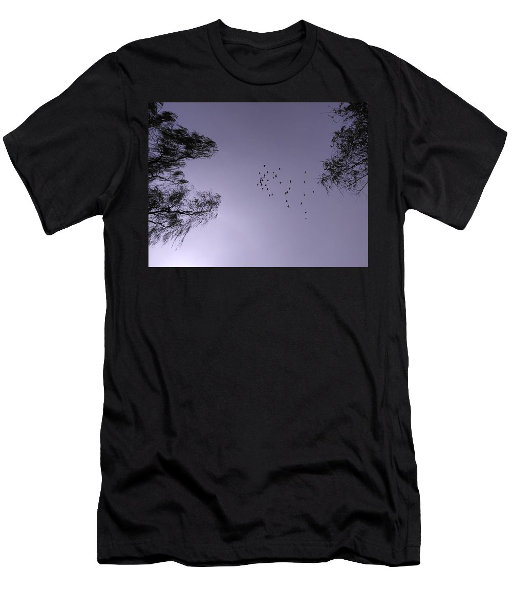 Trees Men's T-Shirt (Athletic Fit) featuring the photograph The Swarm by FL collection