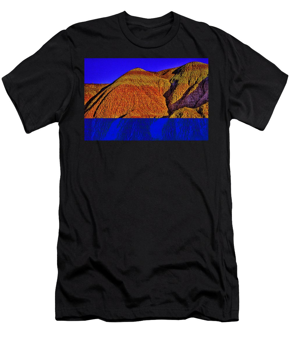 Arizona Men's T-Shirt (Athletic Fit) featuring the photograph The Tepees Up Close by Roger Passman