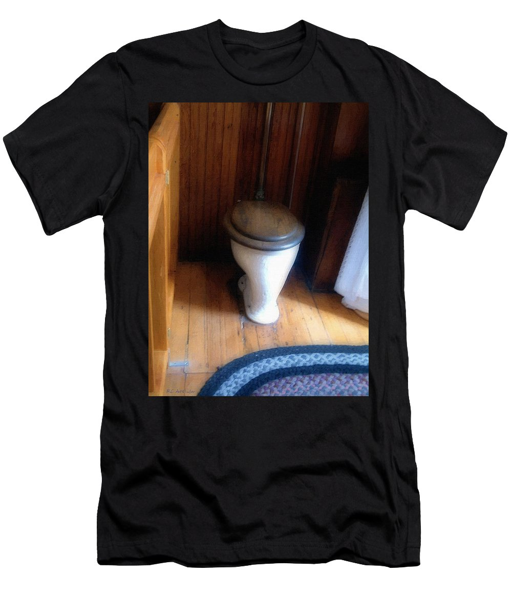 Antique T-Shirt featuring the painting The Throne Room by RC DeWinter