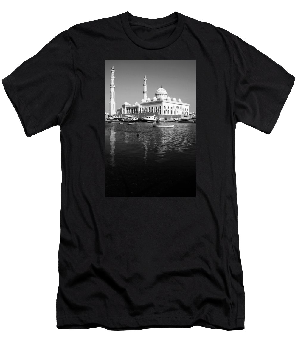 Hurghada Men's T-Shirt (Athletic Fit) featuring the photograph The Tranquil Pass by Jez C Self