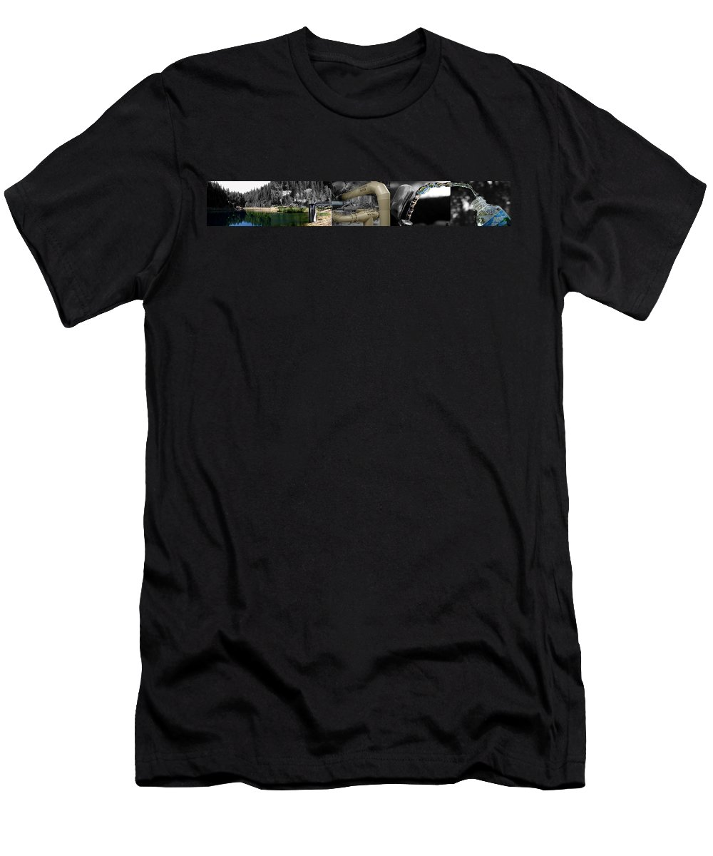 The Treatment Of Water Men's T-Shirt (Athletic Fit) featuring the photograph The Treatment Of Water by Peter Piatt