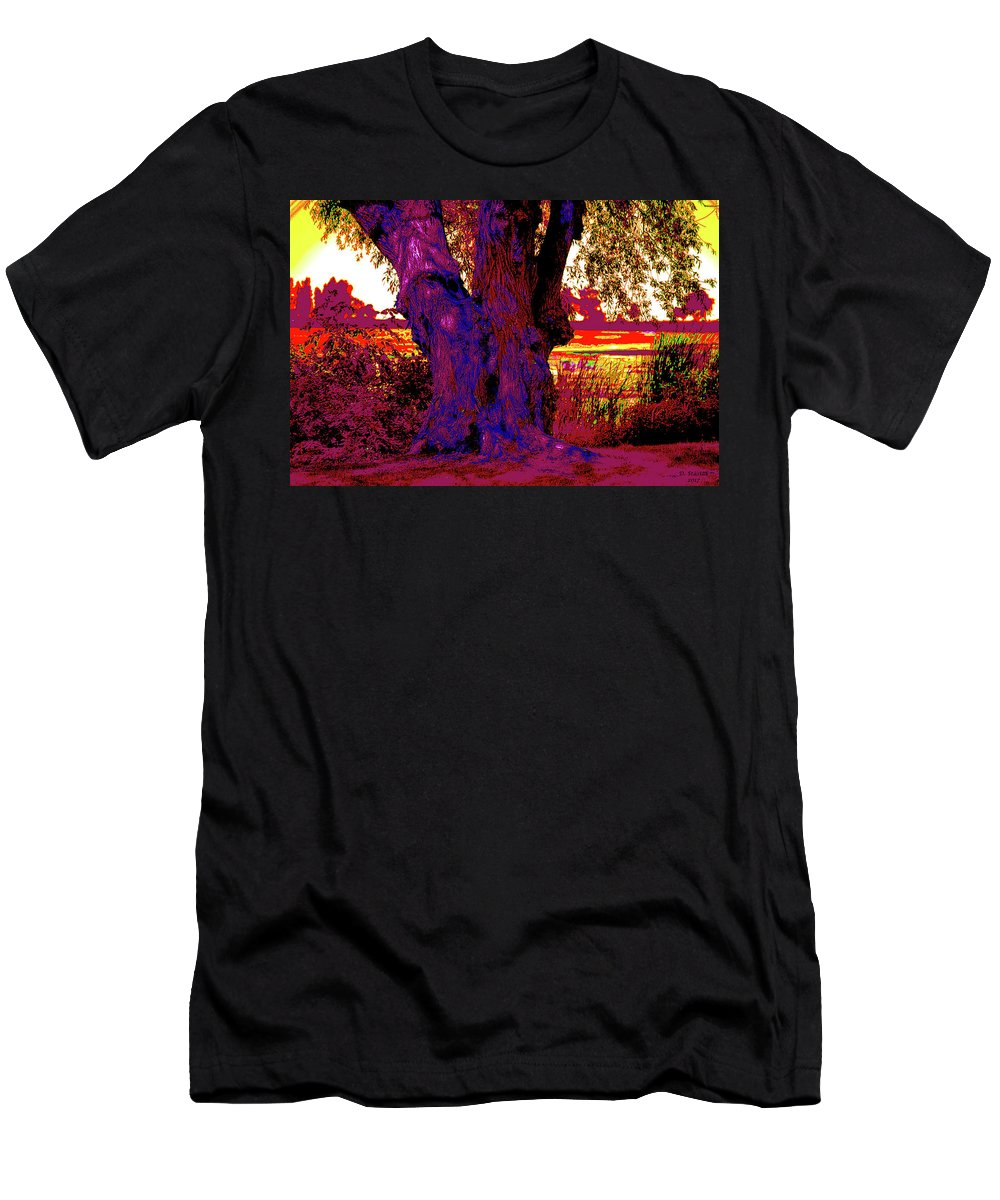 Trees Men's T-Shirt (Athletic Fit) featuring the digital art The Tree by David Stasiak