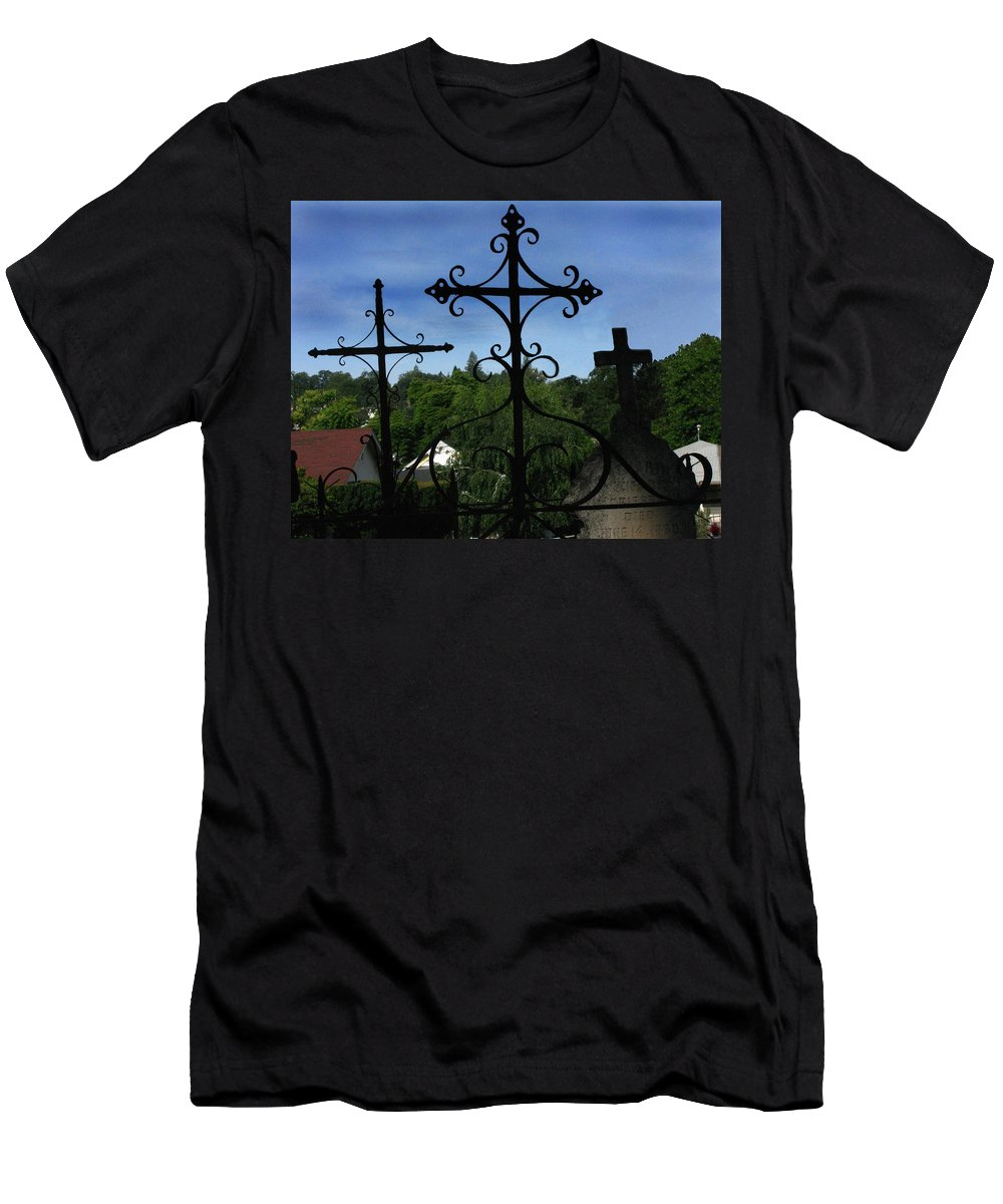 The Trinity Of A Different Kind Men's T-Shirt (Athletic Fit) featuring the photograph The Trinity Of A Different Kind by Peter Piatt