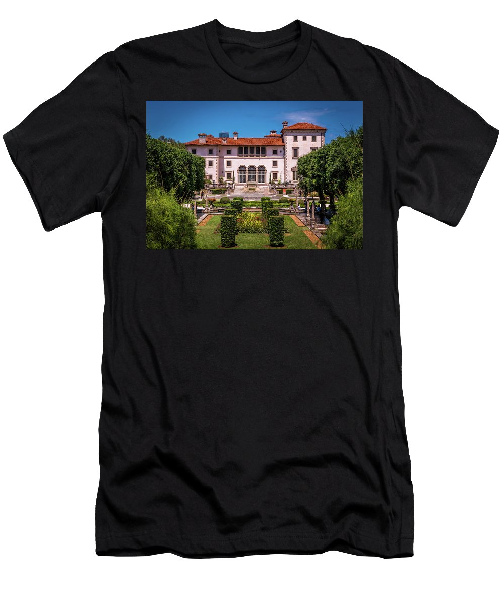 Vizcaya Men's T-Shirt (Athletic Fit) featuring the photograph The Tropical Estate by Vincent Asbjornsen
