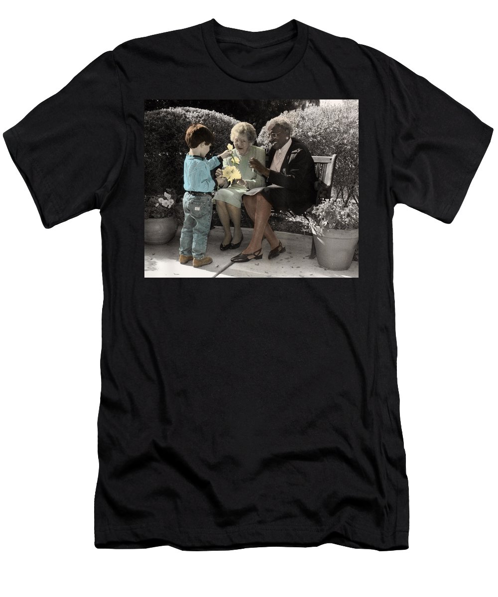 The Twelve Gifts Of Birth Men's T-Shirt (Athletic Fit) featuring the photograph The Twelve Gifts Of Birth - Beauty 1 by Jill Reger