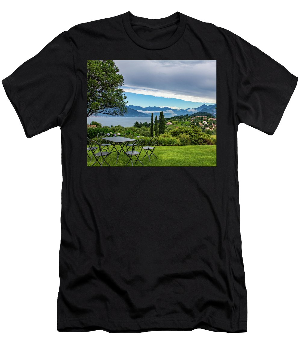 Italy Men's T-Shirt (Athletic Fit) featuring the photograph The View by Kathy Whitehurst