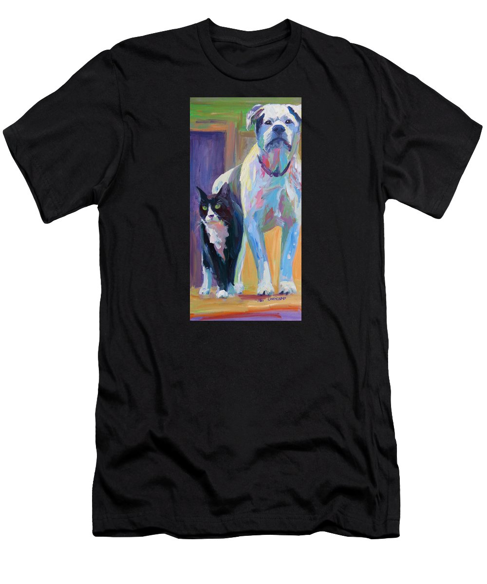 The View Men's T-Shirt (Athletic Fit) featuring the painting The View by Sandy Lindblad