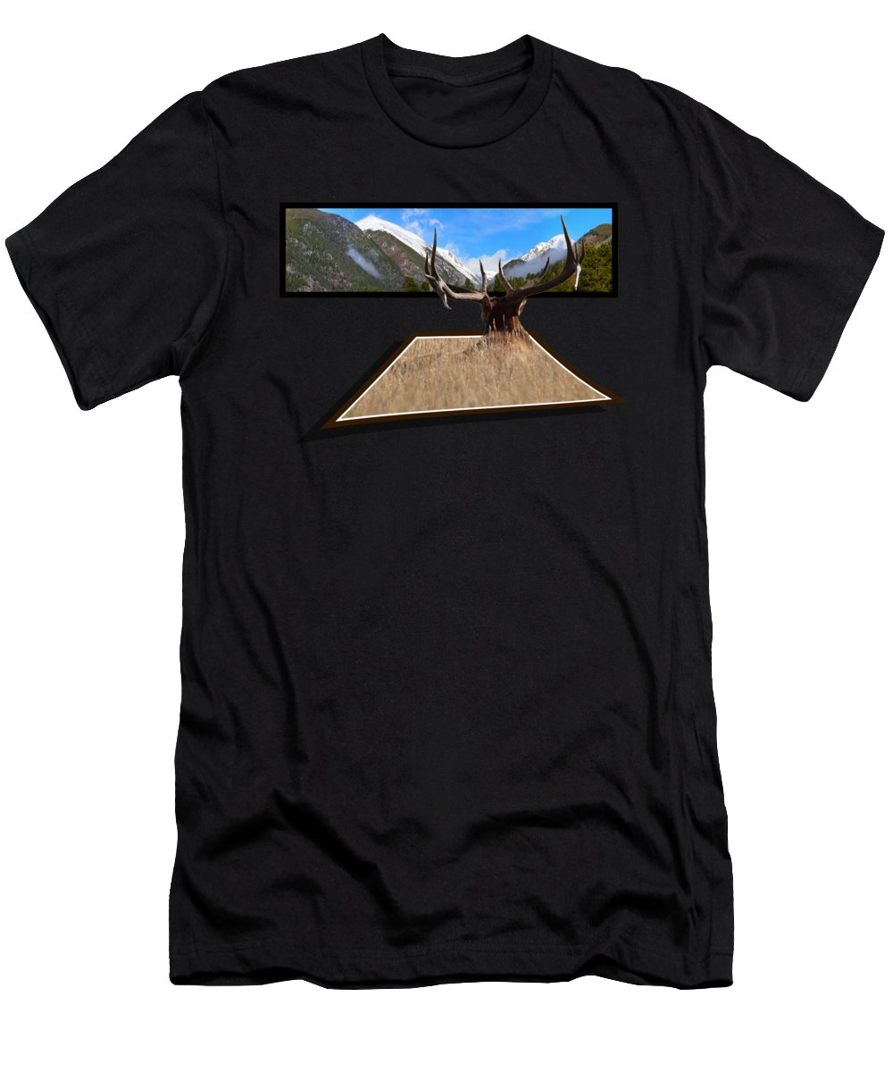 Oof Men's T-Shirt (Athletic Fit) featuring the photograph The View by Shane Bechler