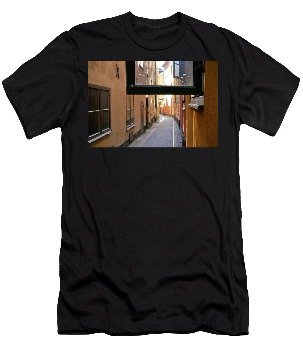 Stockholm Men's T-Shirt (Athletic Fit) featuring the photograph The View The Tourists Don't See by KG Thienemann