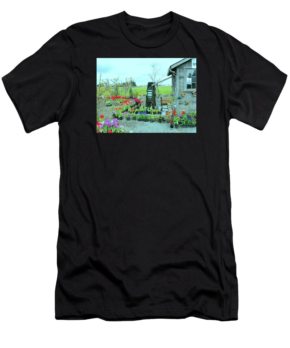 Water Wheel Men's T-Shirt (Athletic Fit) featuring the photograph The Water Wheel by Maro Kentros
