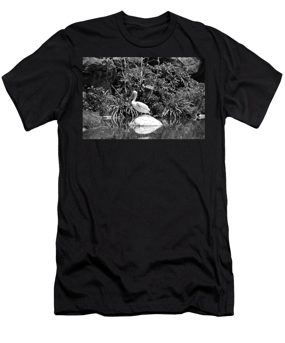 Animal Men's T-Shirt (Athletic Fit) featuring the photograph The Waterbirds by Rob Hans