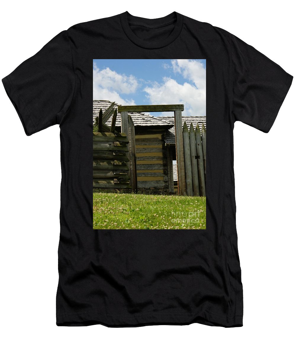 Forts Men's T-Shirt (Athletic Fit) featuring the photograph The Way Out by Judy Carr