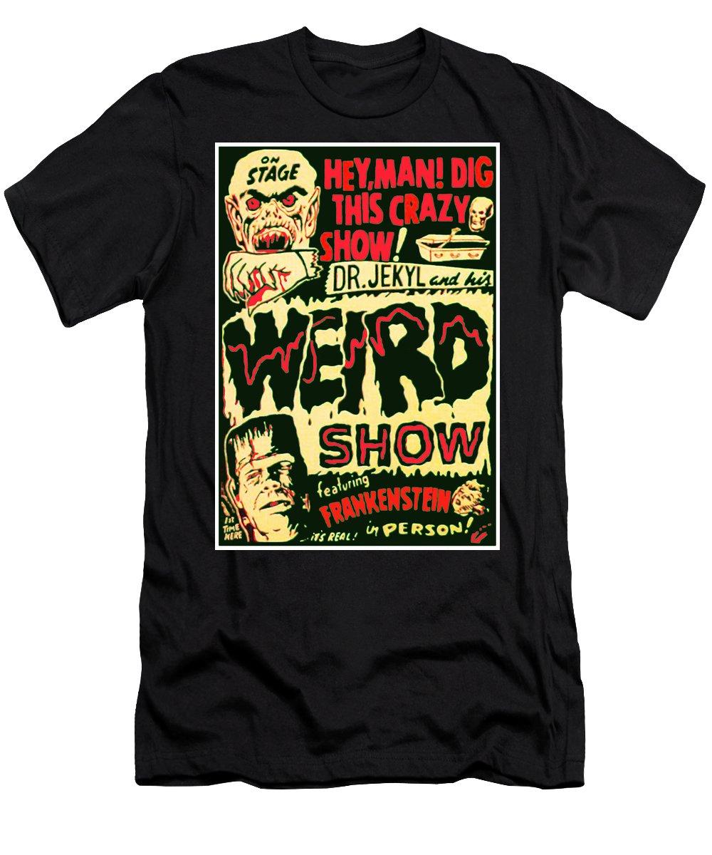 Weird Men's T-Shirt (Athletic Fit) featuring the digital art The Weird Show Poster by Joy McKenzie