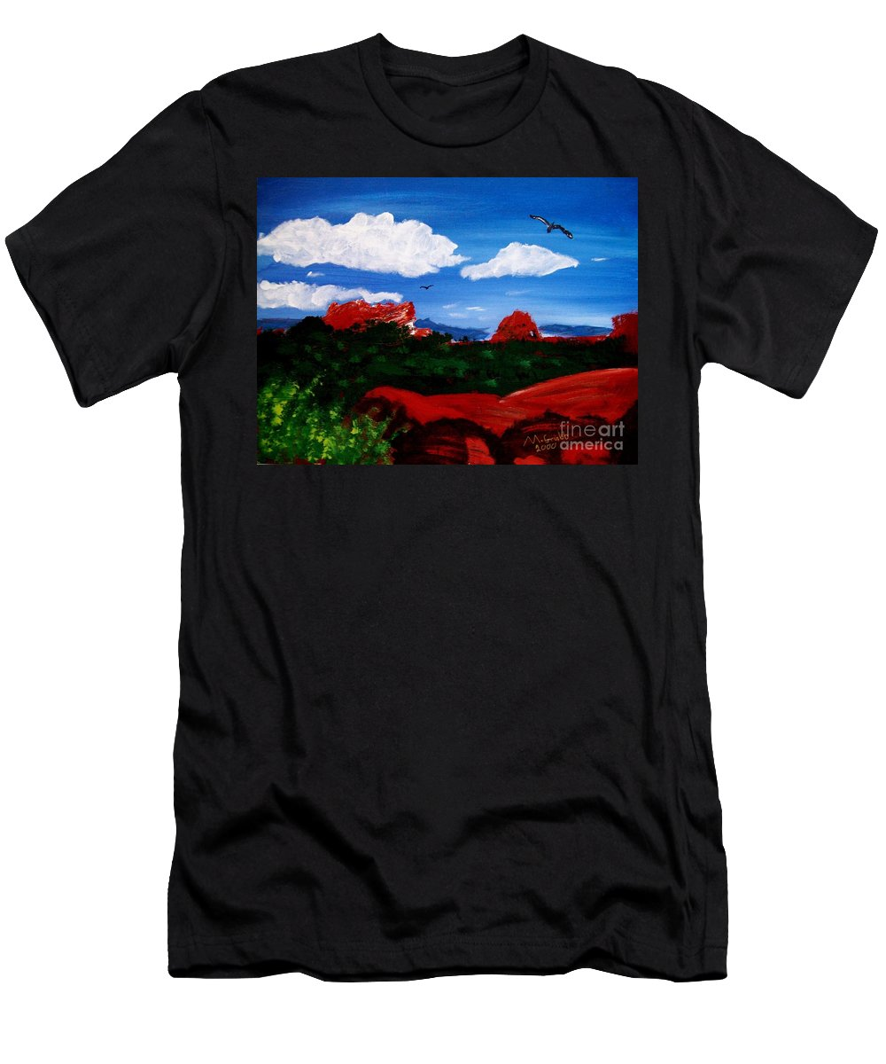 Acrylic Men's T-Shirt (Athletic Fit) featuring the painting The West by Michael Grubb