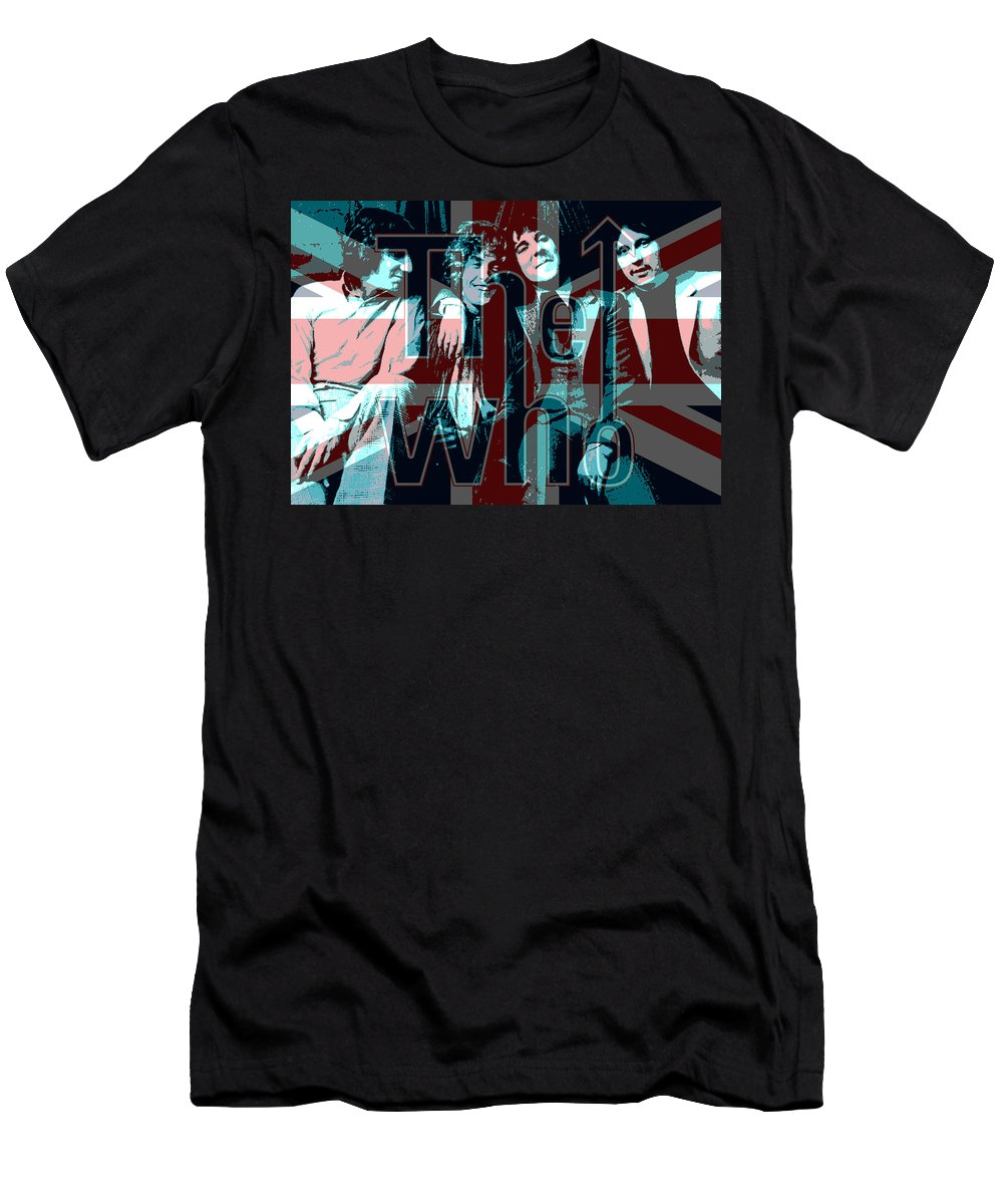 The Who Men's T-Shirt (Athletic Fit) featuring the painting The Who Poster by Enki Art