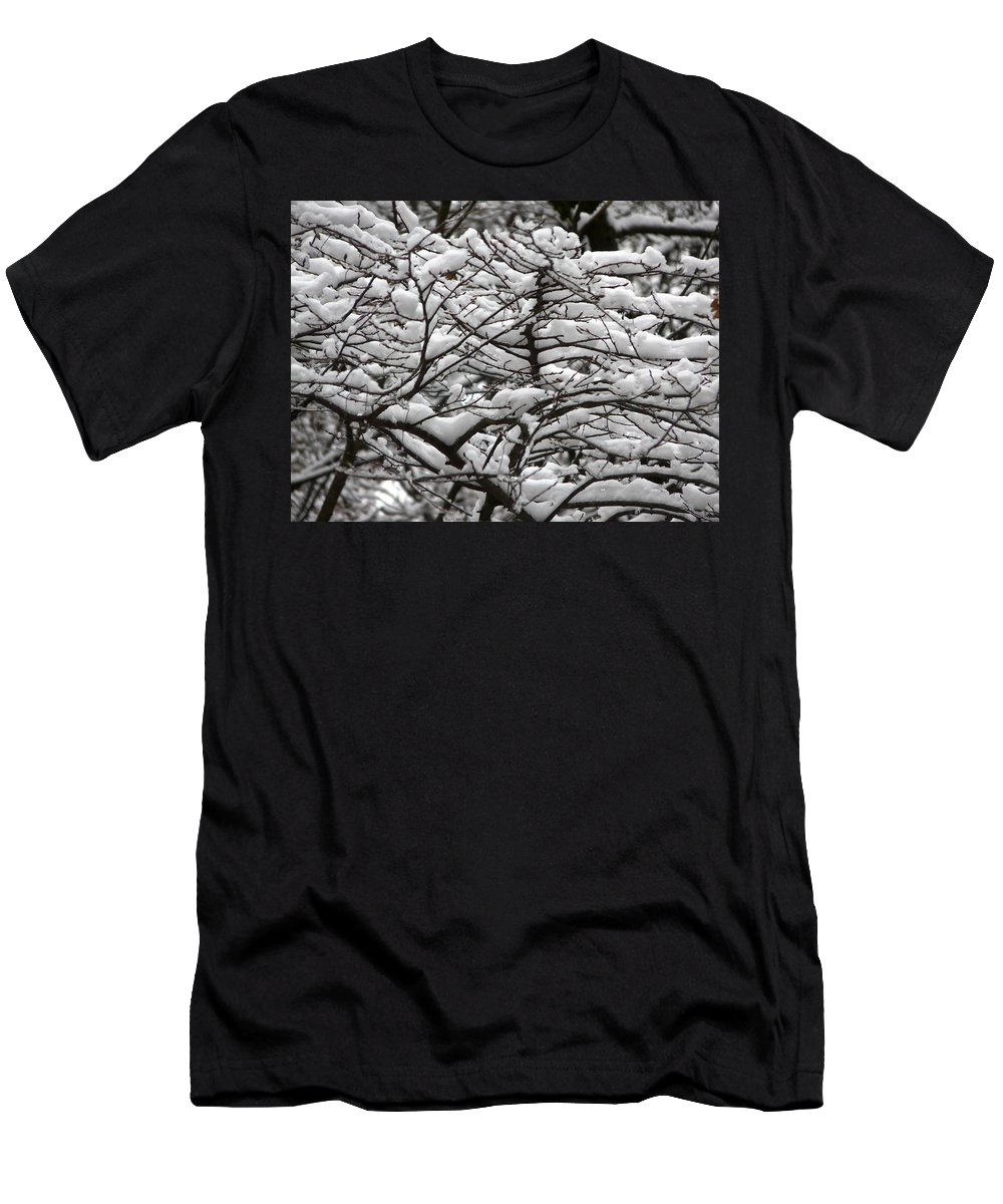 Winter Men's T-Shirt (Athletic Fit) featuring the photograph The Winter Has Arrived by Valerie Ornstein