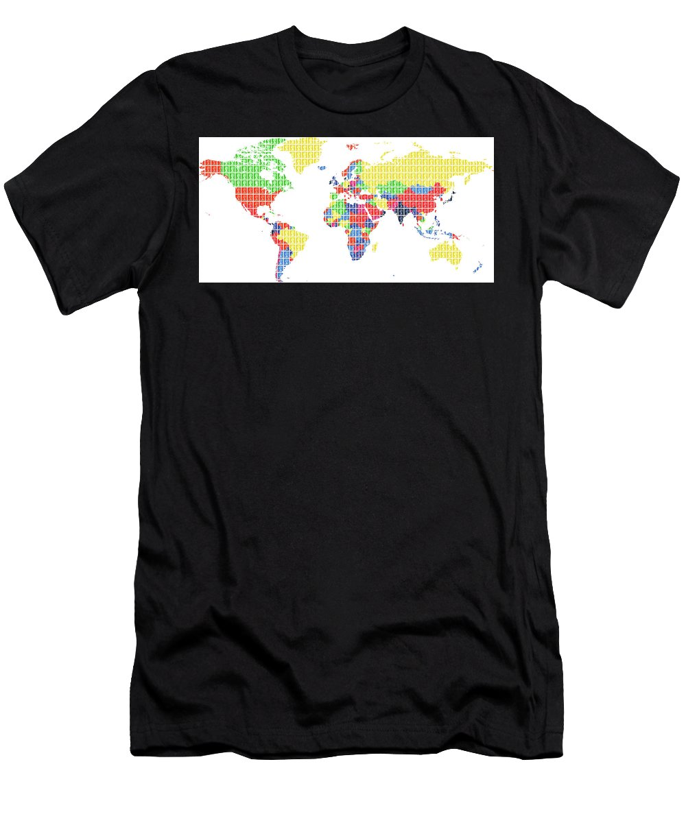 World Men's T-Shirt (Athletic Fit) featuring the digital art The World by Gary Hogben