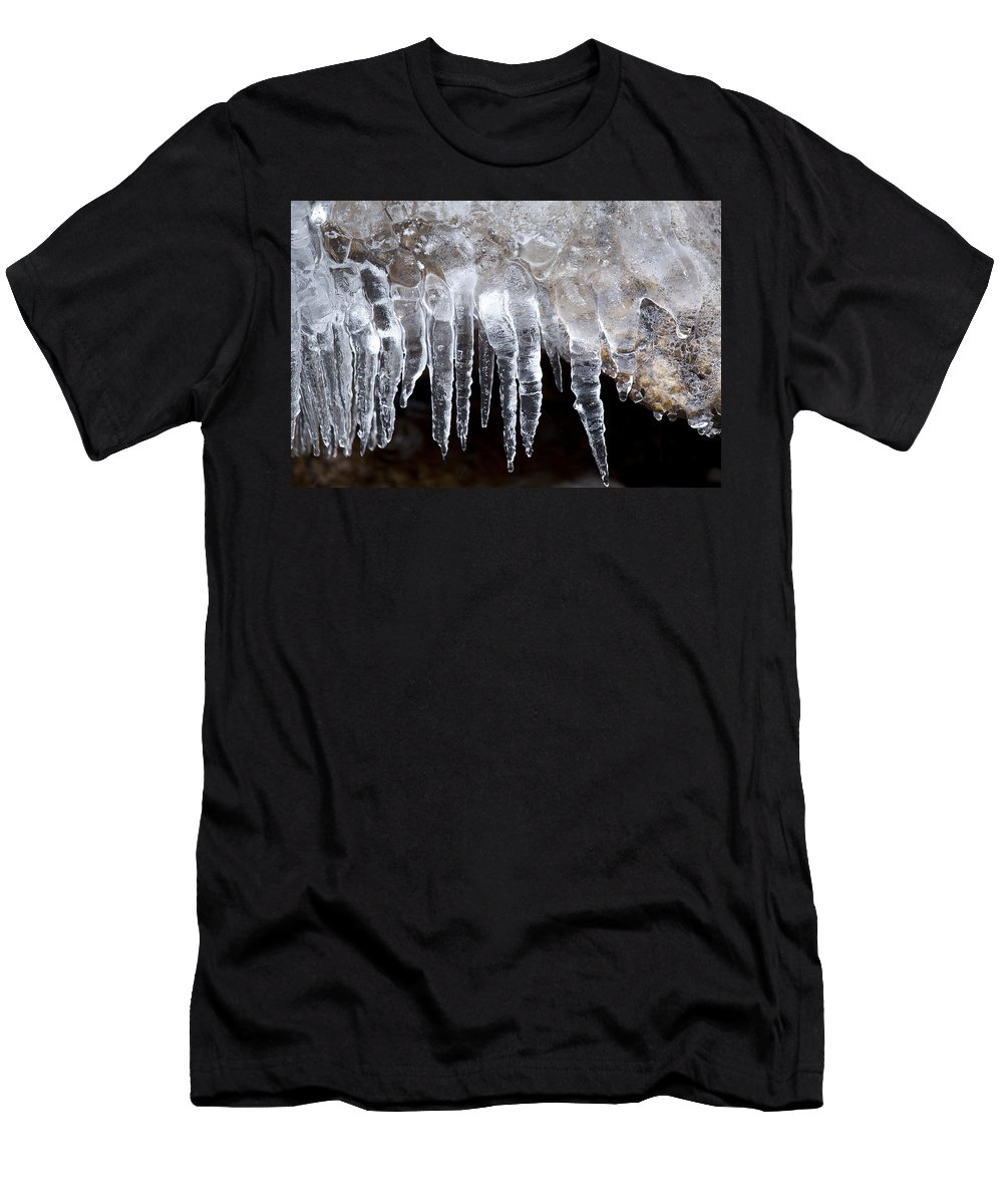 Decor Men's T-Shirt (Athletic Fit) featuring the photograph The World Of Ice by Neil Hopkins
