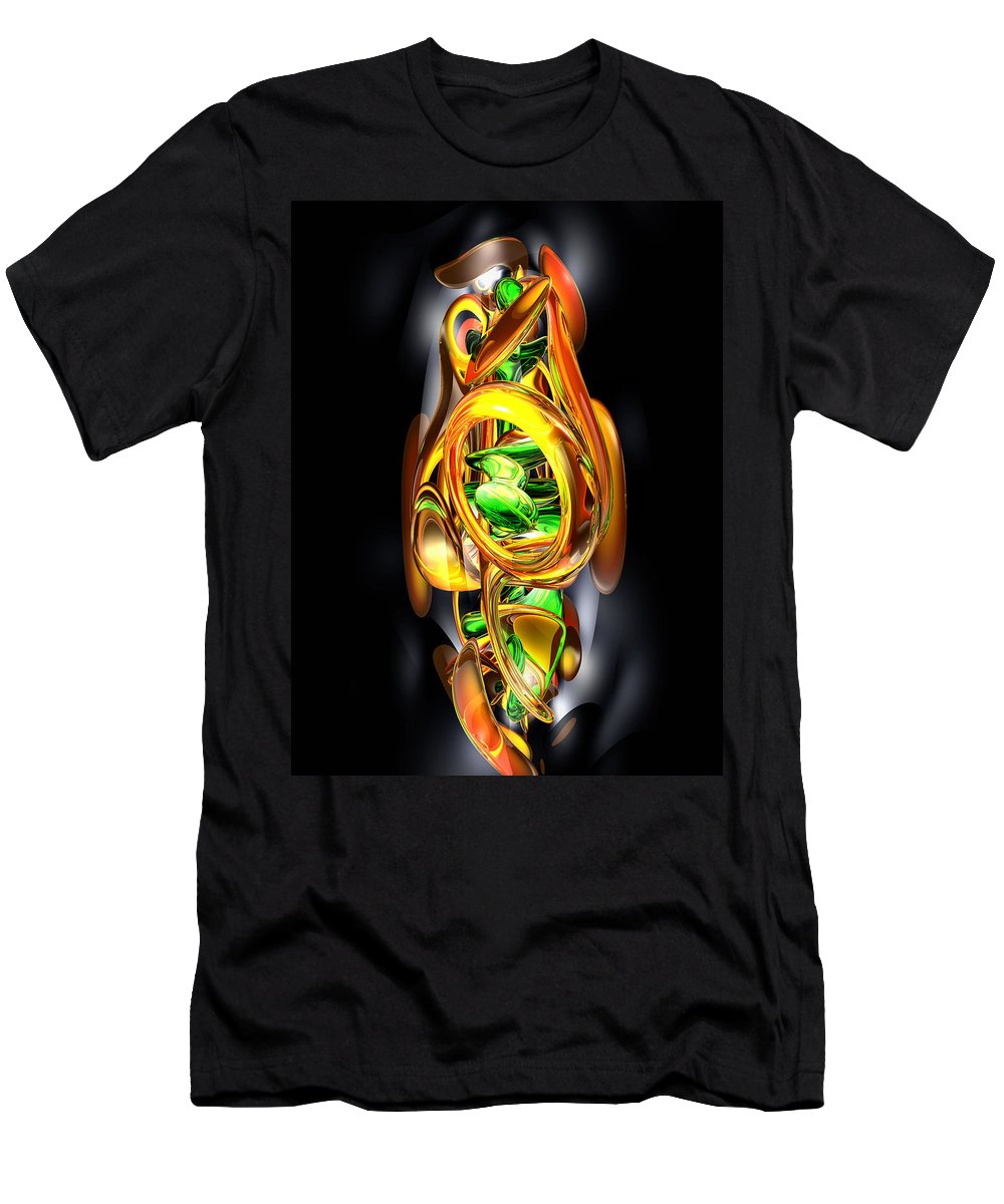 3d Men's T-Shirt (Athletic Fit) featuring the digital art The Wraith Abstract by Alexander Butler