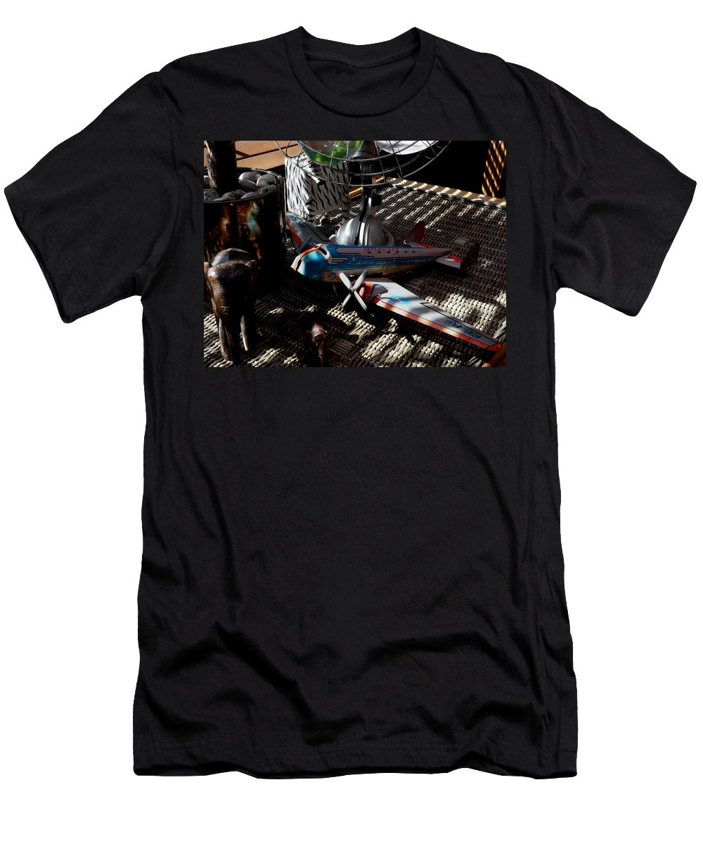 Still Life Men's T-Shirt (Athletic Fit) featuring the photograph The Zebra In Colour by Charles Stuart