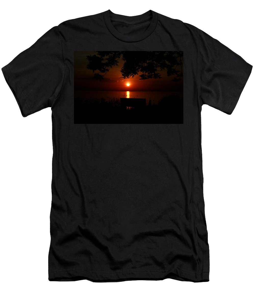 Men's T-Shirt (Athletic Fit) featuring the photograph Thee Moss Awesome Sunrise by Karen Mayer