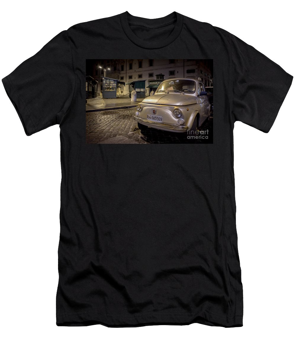 500 Men's T-Shirt (Athletic Fit) featuring the photograph The Fiat 500 by Valerio Poccobelli