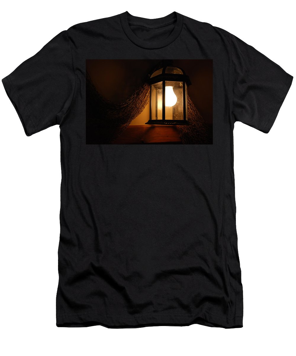 Lantern Men's T-Shirt (Athletic Fit) featuring the photograph There Is Light In The Dark by Susanne Van Hulst