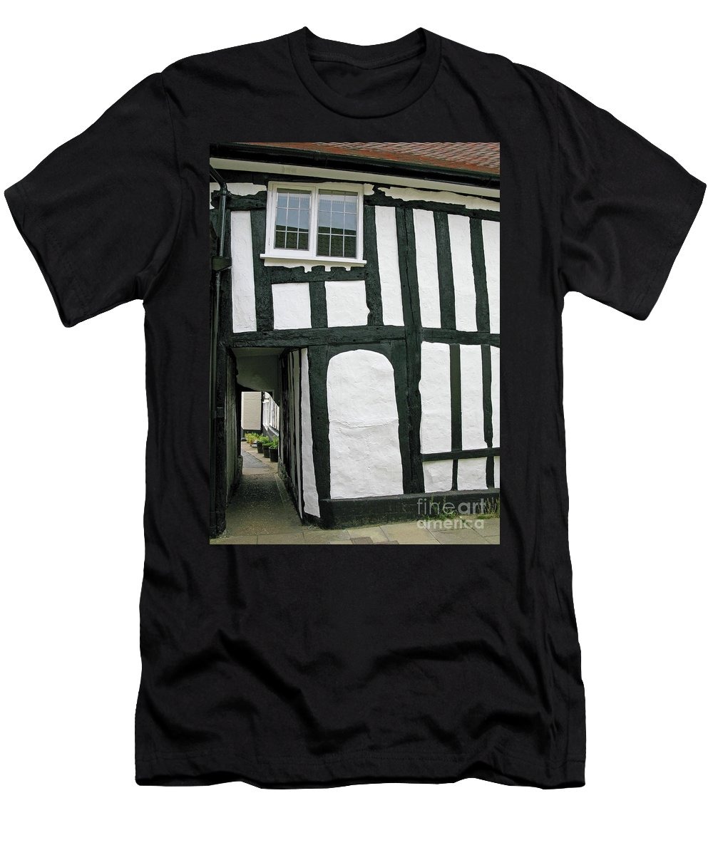 England Men's T-Shirt (Athletic Fit) featuring the photograph There Was A Crooked Man by Ann Horn