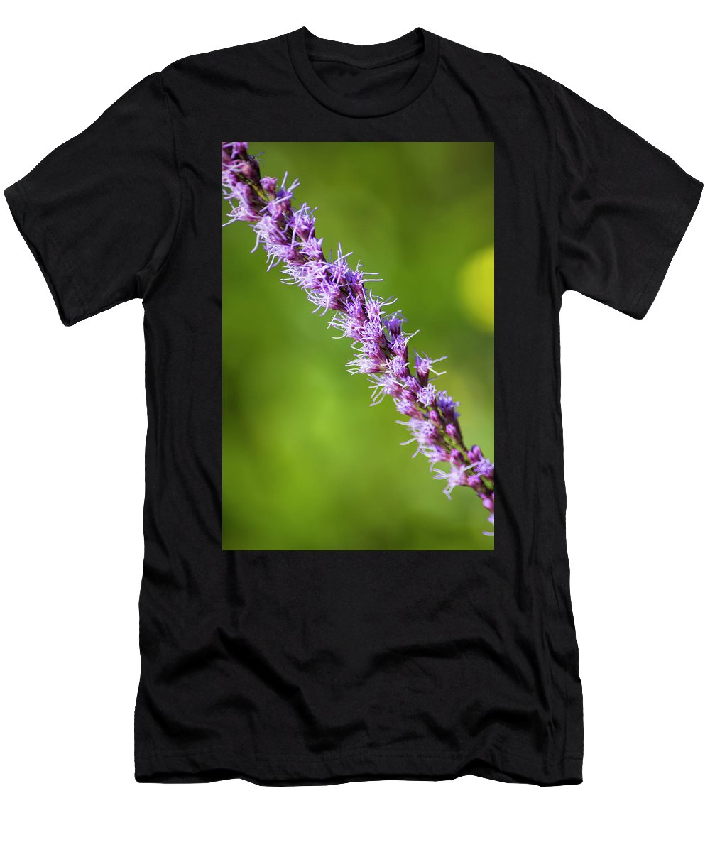 There You Are Blazing Star Men's T-Shirt (Athletic Fit) featuring the photograph There You Are Blazing Star by William Tasker