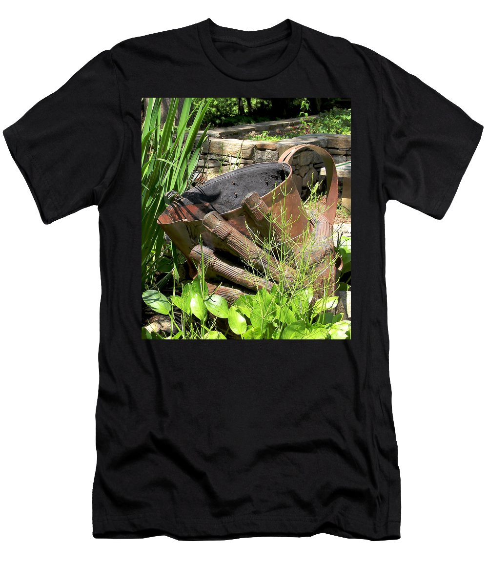 Botanical Garden Memorial Men's T-Shirt (Athletic Fit) featuring the photograph These Hands Serve by Allen Nice-Webb