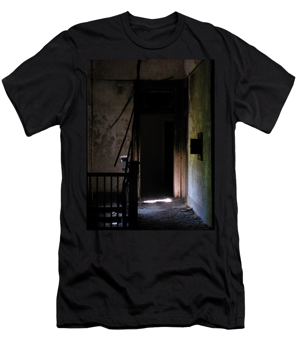 Depression Men's T-Shirt (Athletic Fit) featuring the photograph These Walls by Jessica Brawley