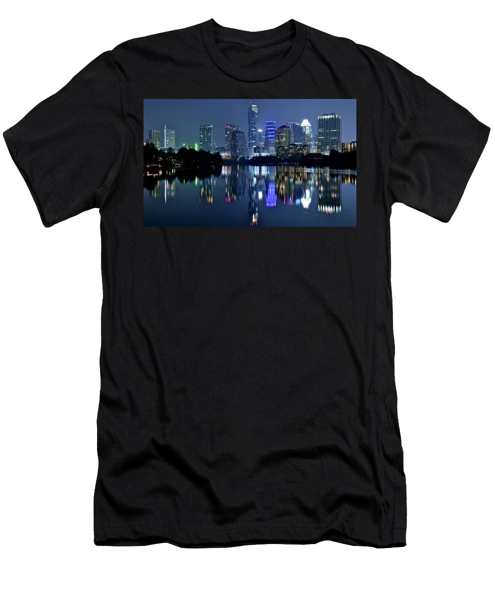 Austin Men's T-Shirt (Athletic Fit) featuring the photograph This Is Austin by Frozen in Time Fine Art Photography