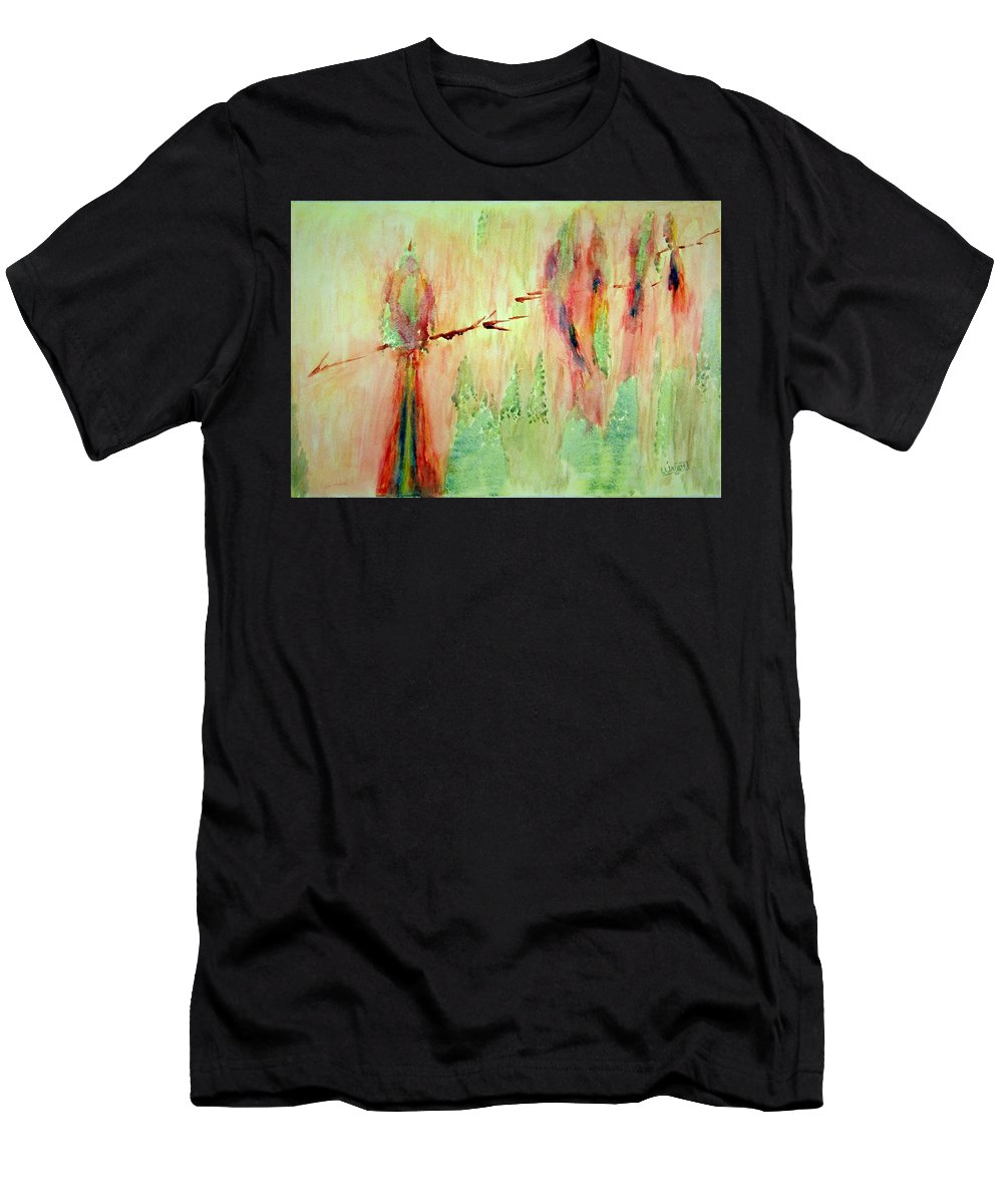 Abstract Art Men's T-Shirt (Athletic Fit) featuring the painting This Must Be A Dream by Larry Wright