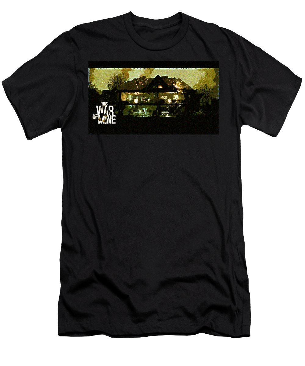 This War Of Mine Men's T-Shirt (Athletic Fit) featuring the digital art This War Of Mine by Lora Battle