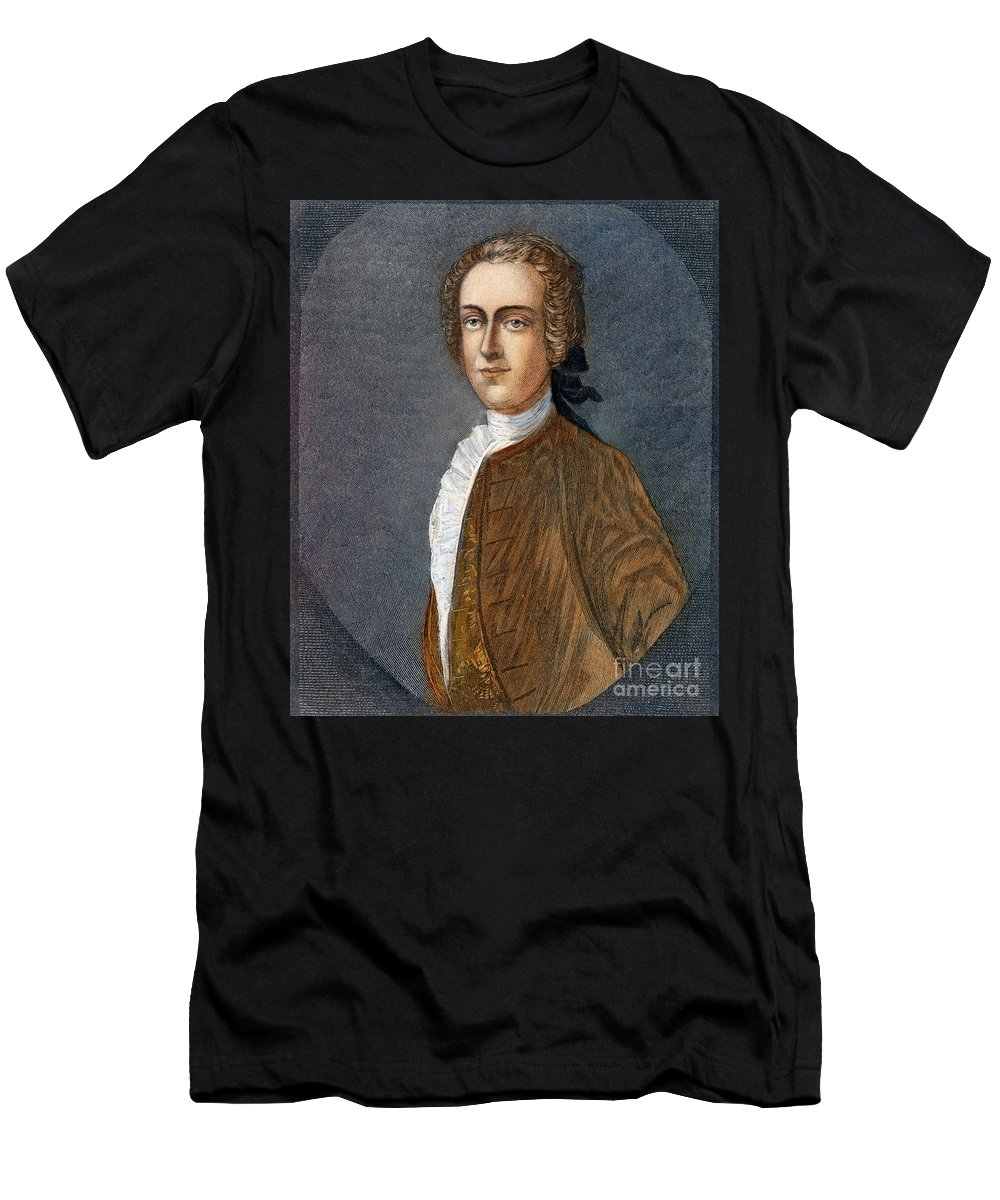 18th Century Men's T-Shirt (Athletic Fit) featuring the drawing Thomas Hutchinson by Granger