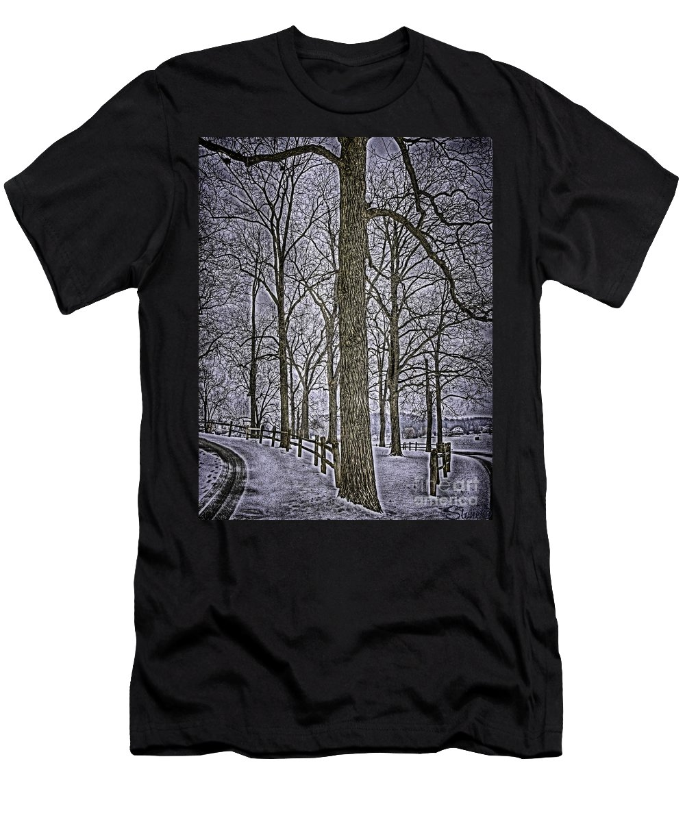 Country Men's T-Shirt (Athletic Fit) featuring the photograph Thompson Lake Hdr by September Stone