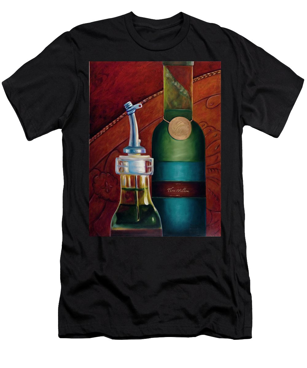 Olive Oil T-Shirt featuring the painting Three Million Net by Shannon Grissom