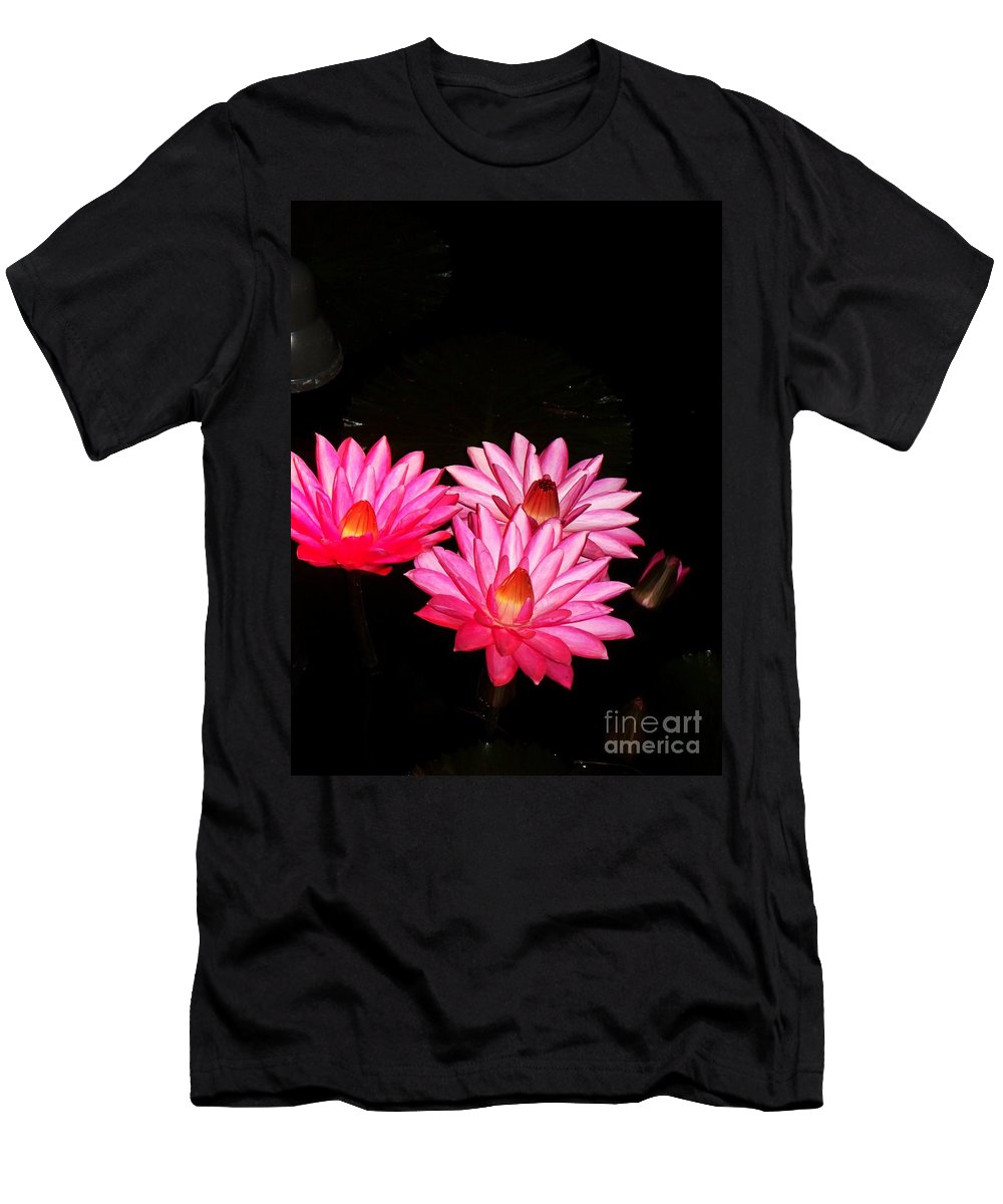 Photograph Men's T-Shirt (Athletic Fit) featuring the photograph Three Night Lilies by Eric Schiabor