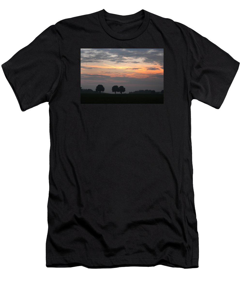 Bavaria Men's T-Shirt (Athletic Fit) featuring the photograph Three Trees Bavaria by Michael Ziegler