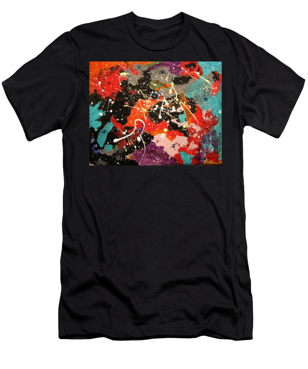 Abstract Men's T-Shirt (Athletic Fit) featuring the mixed media Through The Eyes Of The Universe by J R Seymour